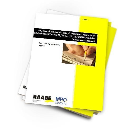 A 22/2013 EMMI rendelet óvodai vonatkozásai